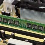 Memoria RAM de un ordenador. La memoria interna del pc