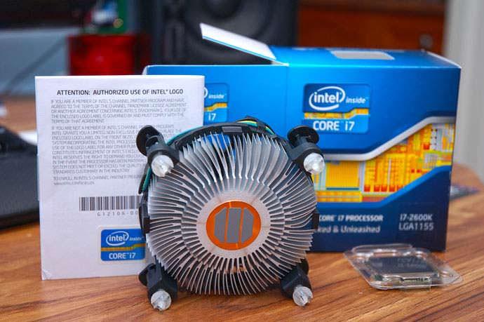 Ventilador microprocesador intel última generación