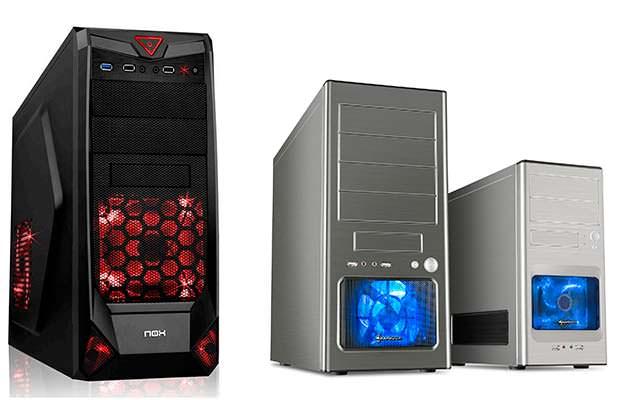 Diferentes formatos de caja de ordenador