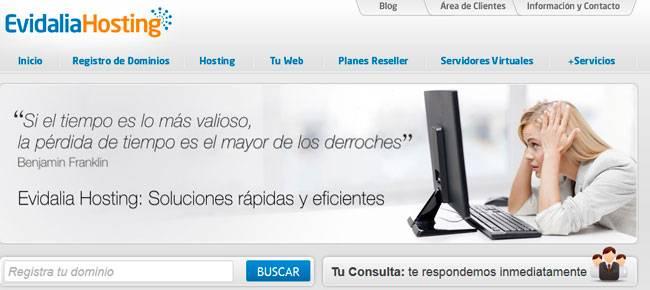 Análisis Evidalia Hosting en España, alojamiento web compartido y VPS