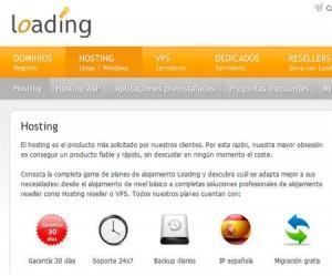 Loading hosting portada