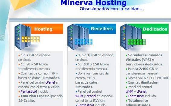 Análisis Minerva Hosting. Otro alojamiento web español